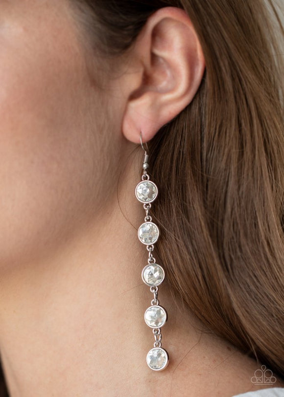 trickle-down-twinkle-white-earrings-paparazzi-accessories