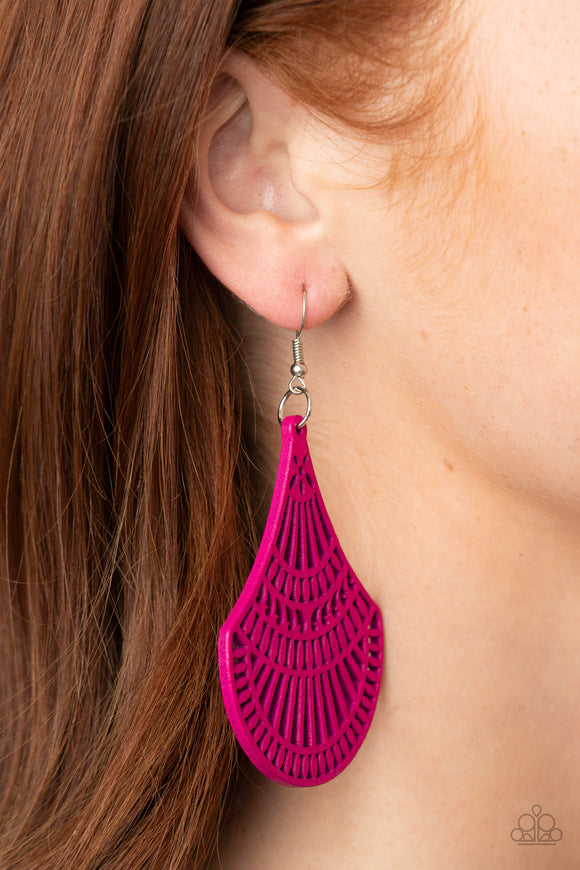 Tropical Tempest - Pink Earrings - Paparazzi Accessories