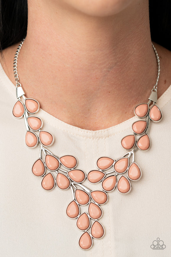 Eden Deity - Pink Necklace - Paparazzi Accessories