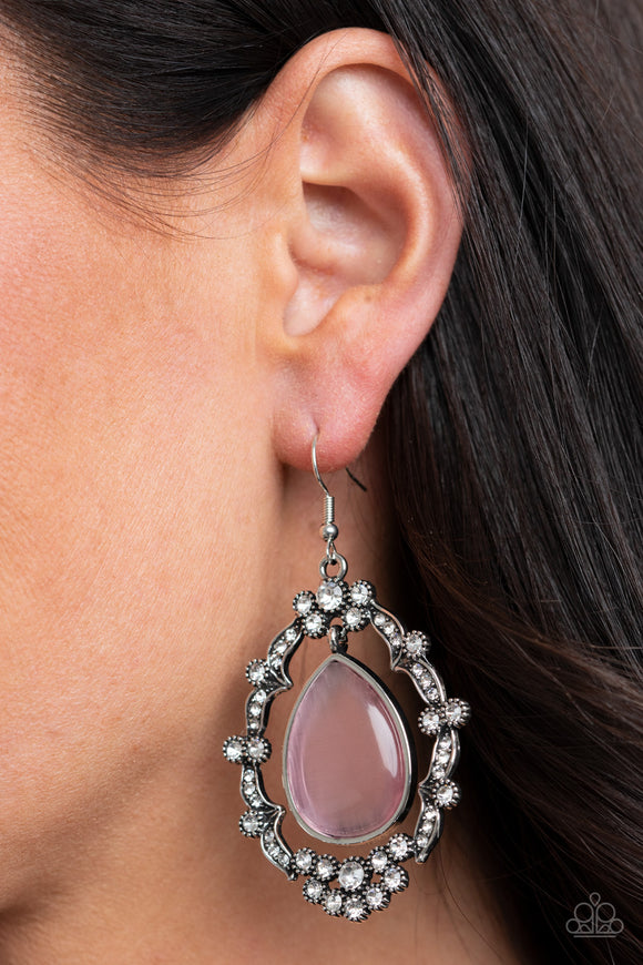 Icy Eden - Pink Earrings - Paparazzi Accessories