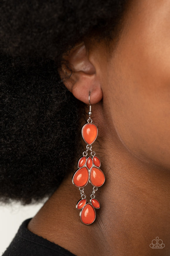 Superstar Social - Orange Earrings - Paparazzi Accessories