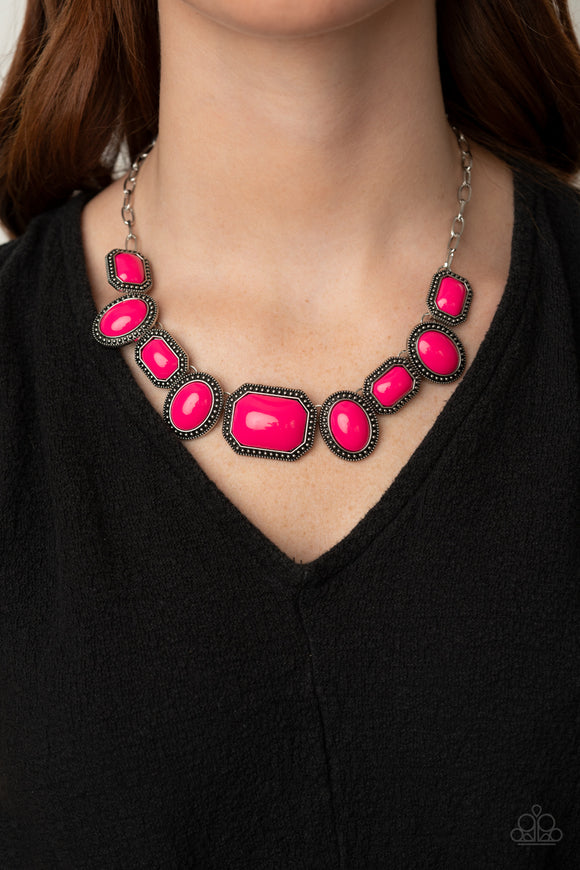 Lets Get Loud - Pink Necklace - Paparazzi Accessories