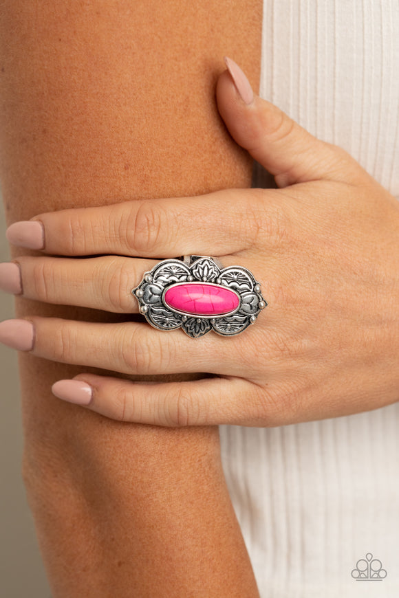 Lotus Oasis - Pink Ring - Paparazzi Accessories