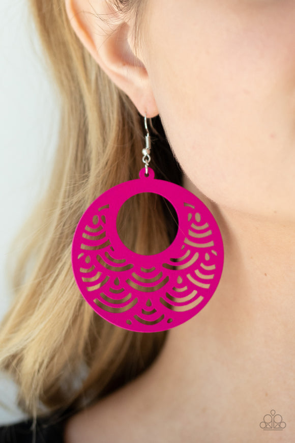 SEA Le Vie! - Pink Earrings - Paparazzi Accessories