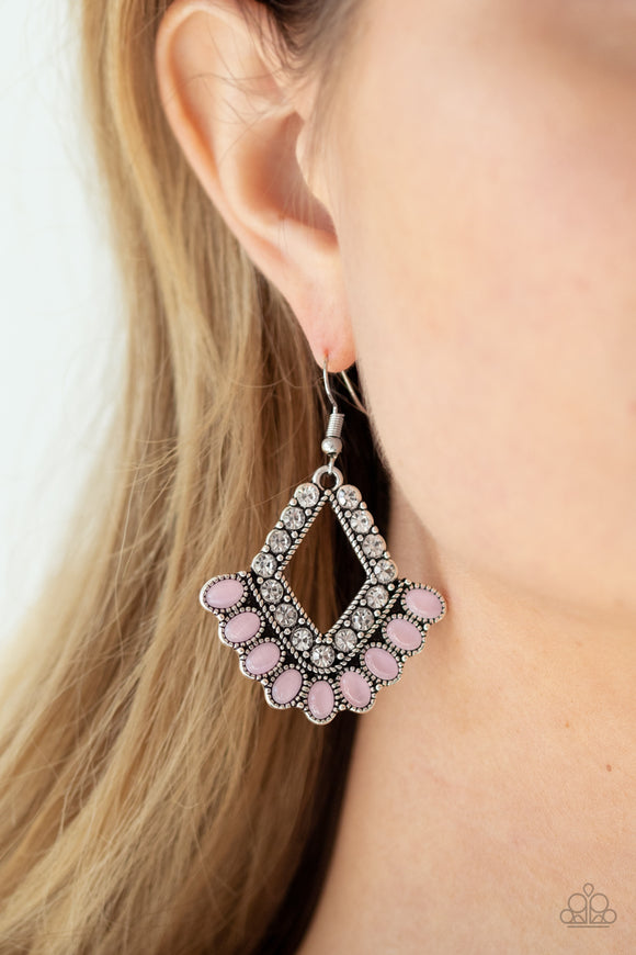 Just BEAM Happy - Pink Earrings - Paparazzi Accessories