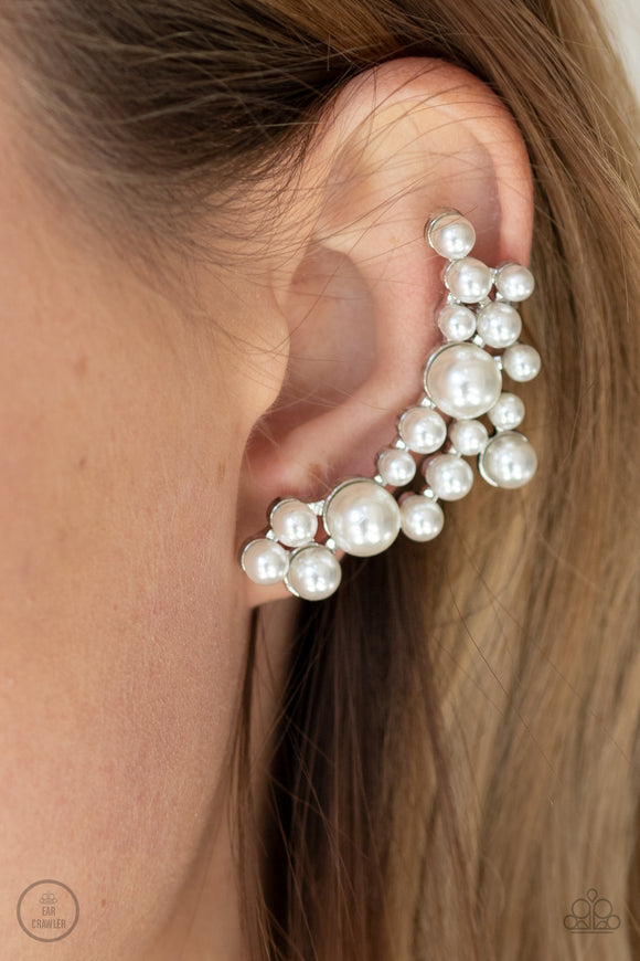 metro-makeover-white-post earrings-paparazzi-accessories