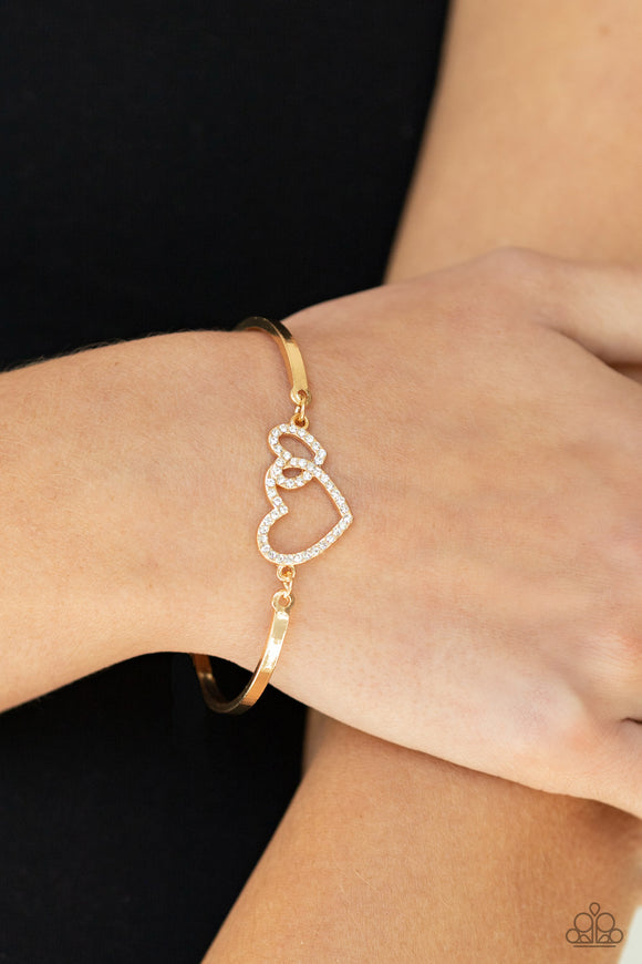 Cupid is Calling - Gold Bracelet - Paparazzi Accessories