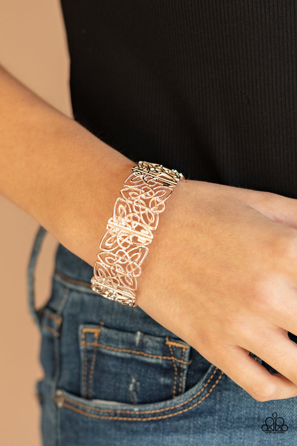 Namaste Gardens - Rose Gold Bracelet - Paparazzi Accessories