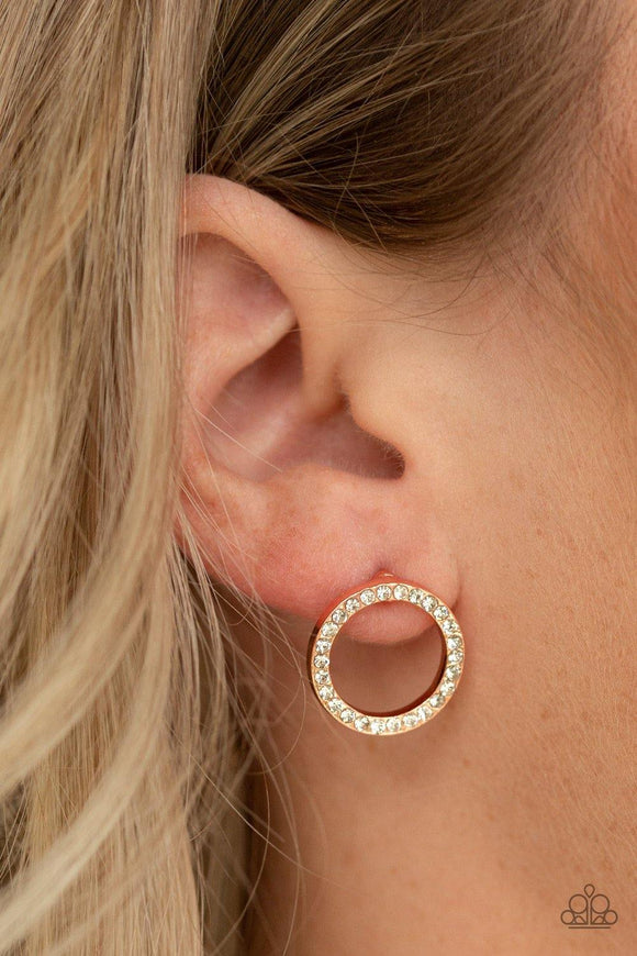 5th Ave Angel - Copper Earrings - Paparazzi Accessories
