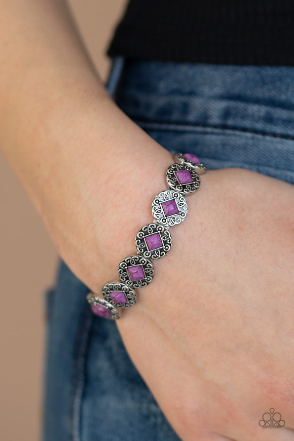 Desert Dilemma - Purple Bracelet - Paparazzi Accessories