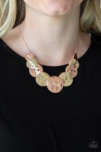 A Daring DISCovery - Copper Necklace - Paparazzi Accessories