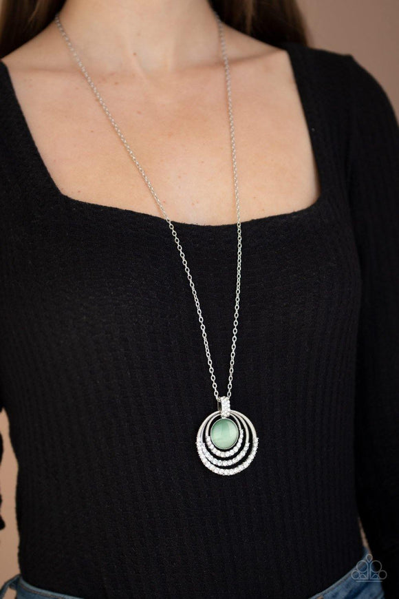 A Diamond A Day - Green Necklace - Paparazzi Accessories