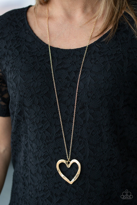A Mothers Love - Gold Necklace - Paparazzi Accessories