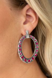 All For GLOW - Pink Earrings - Paparazzi Accessories