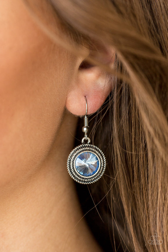 Beginners LUXE - Blue Earrings - Paparazzi Accessories