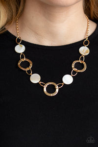 Bermuda Bliss - Gold Necklace - Paparazzi Accessories