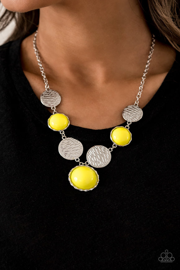 Bohemian Bombshell - Yellow Necklace - Paparazzi Accessories