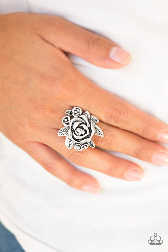 Bouquet Bonanza - Silver Ring - Paparazzi Accessories