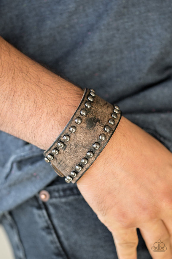 Cattle Drive - Brown MEN'S Bracelet - Paparazzi Accessories