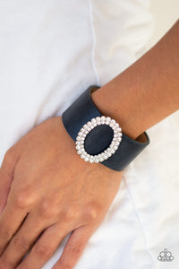 Center Stage Starlet - Blue Bracelet - Paparazzi Accessories