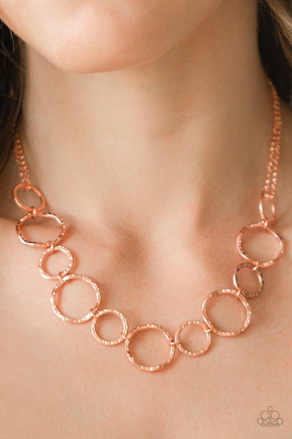 Circus Show - Copper Necklace - Paparazzi Accessories