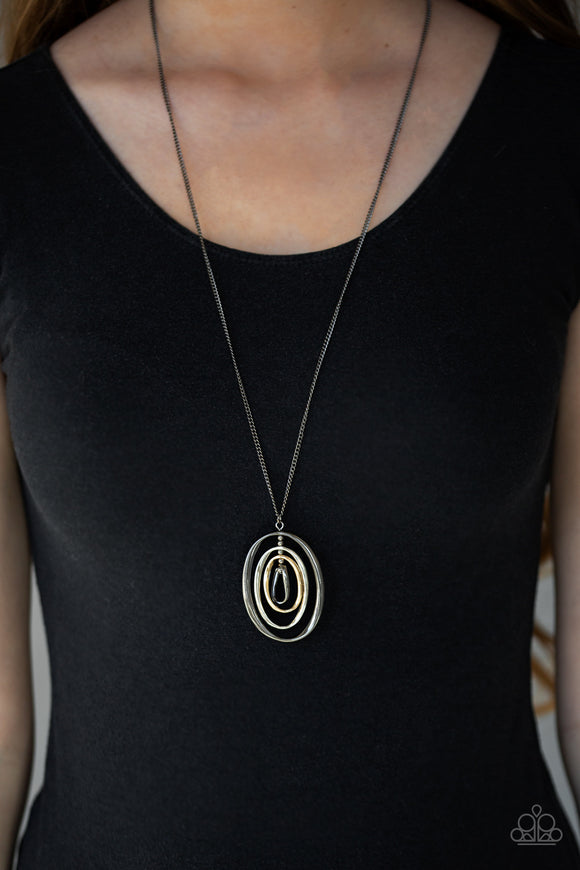 Classic Convergence - Black Necklace - Paparazzi Accessories