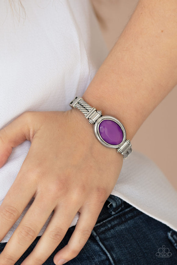 Color Coordinated - Purple Bracelet - Paparazzi Accessories