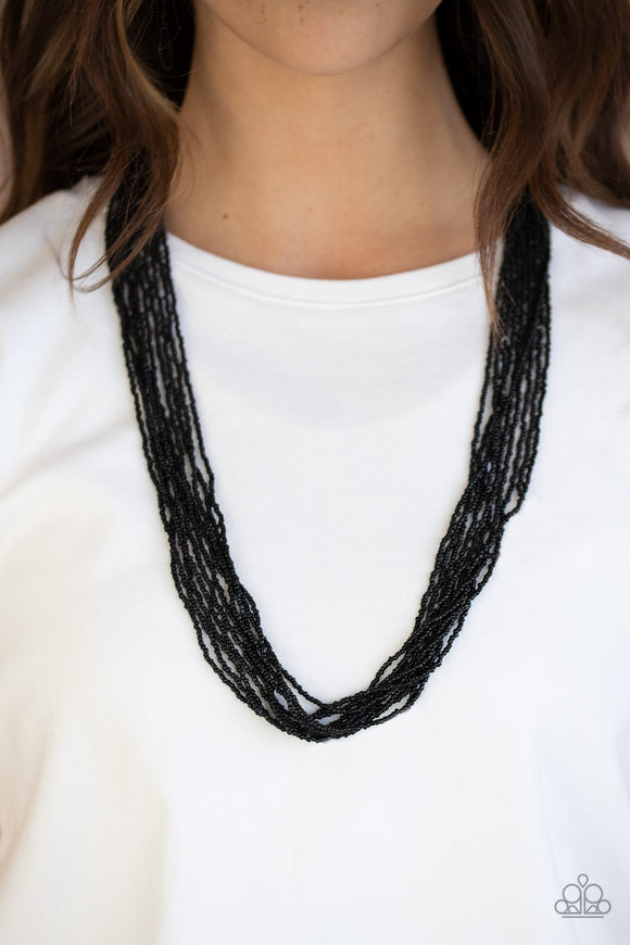 Congo Colada - Black Necklace - Paparazzi Accessories