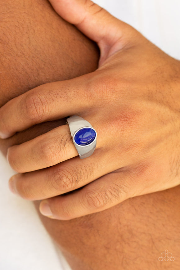 Cool Down - Blue Ring - Paparazzi Accessories