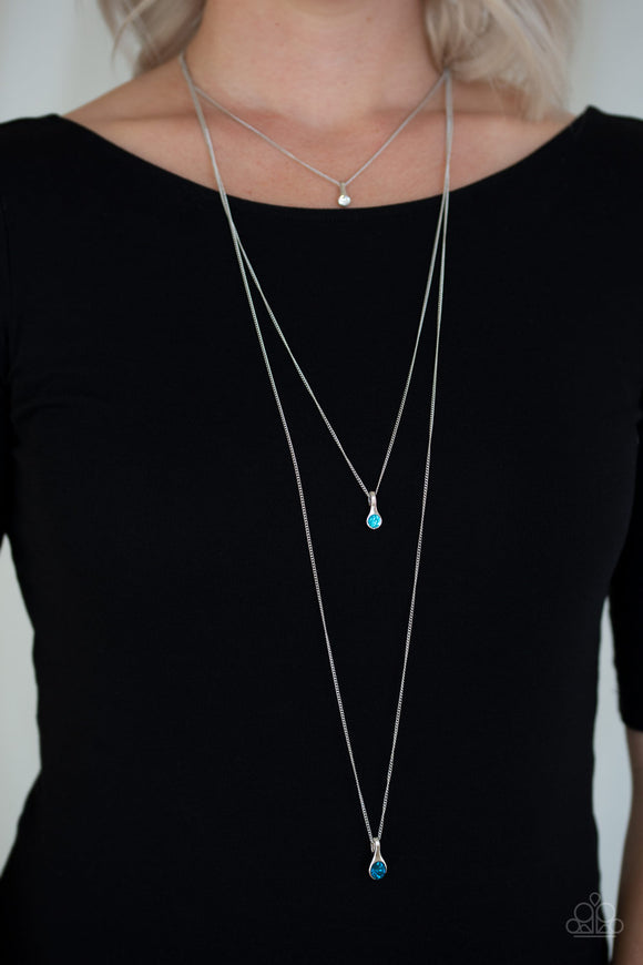Crystal Chic - Blue Necklace - Paparazzi Accessories