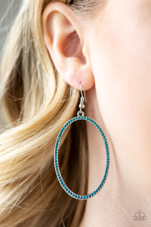 Dazzle On Demand - Blue Earrings - Paparazzi Accessories