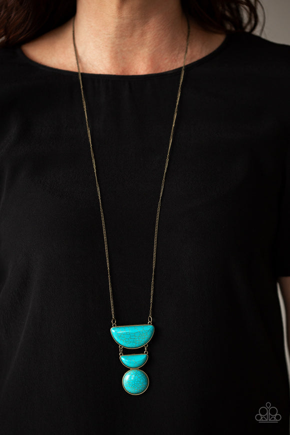 Desert Mason - Brass Necklace - Paparazzi Accessories