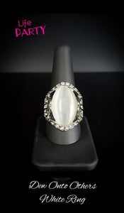 Dew Onto Others - White Ring - Paparazzi Accessories