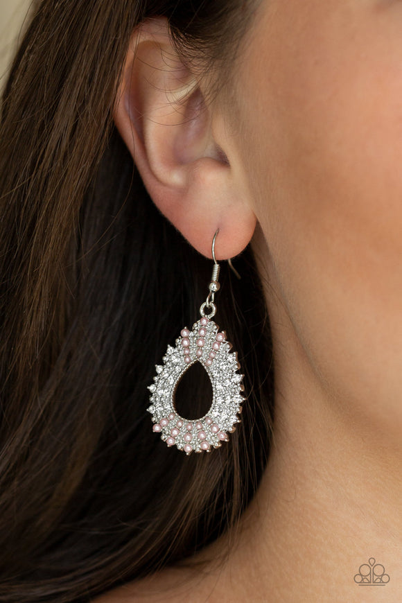 Diva Dream - Pink Earrings - Paparazzi Accessories