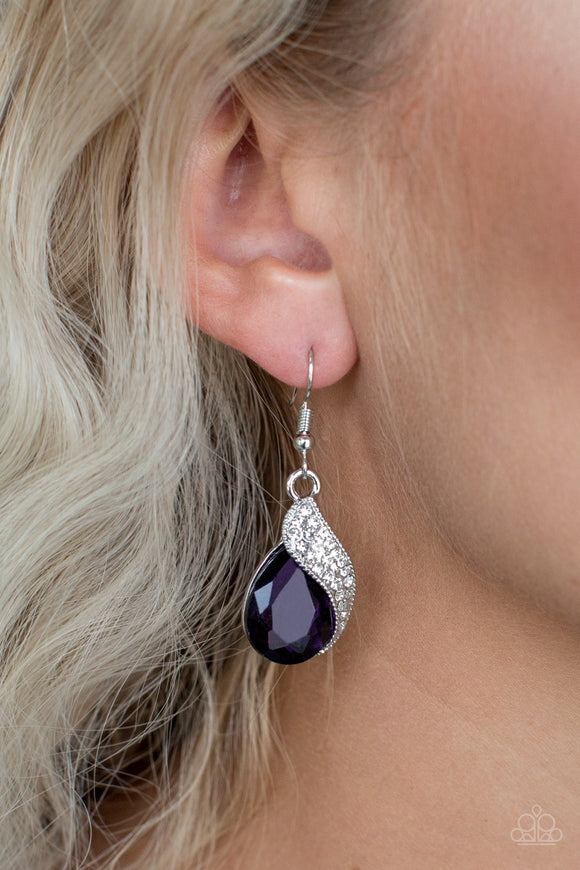 Easy Elegance - Purple Earrings - Paparazzi Accessories