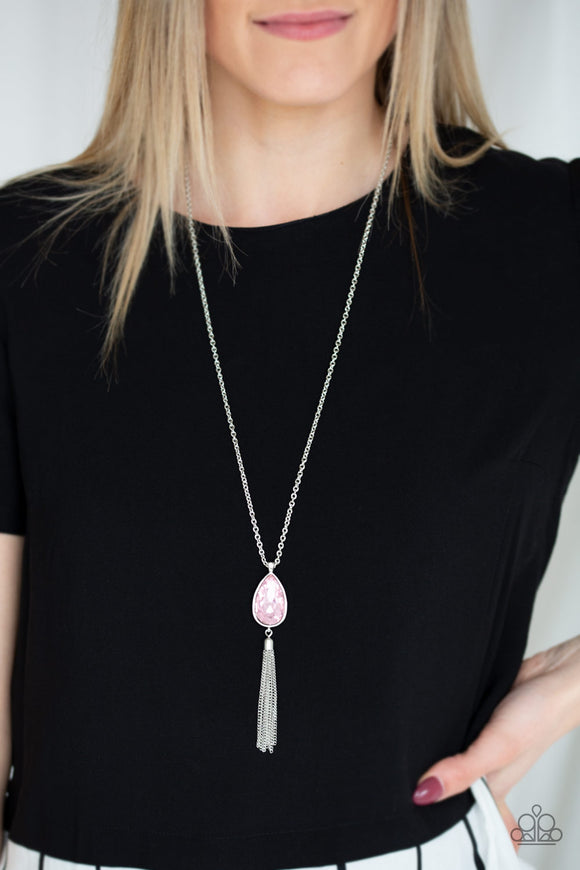 Elite Shine - Pink Necklace - Paparazzi Accessories