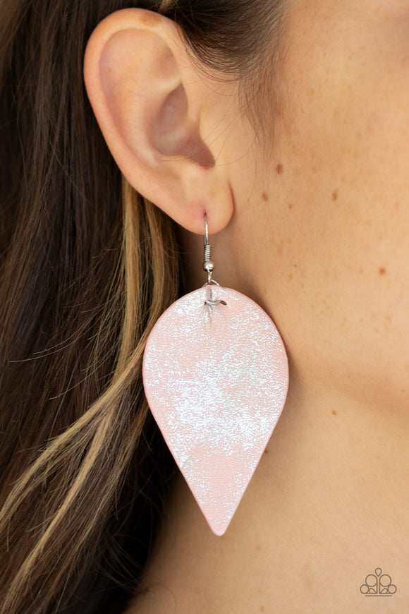 Enchanted Shimmer - Pink Earrings - Paparazzi Accessories