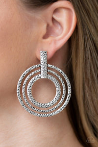 Ever Elliptical - Silver Earrings - Paparazzi Accessories