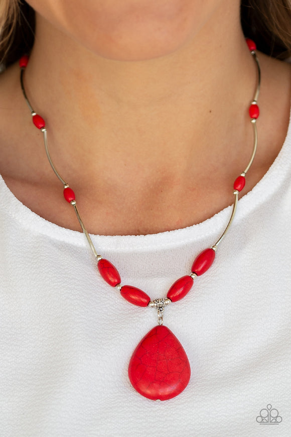Explore the Elements - Red Necklace - Paparazzi Accessories