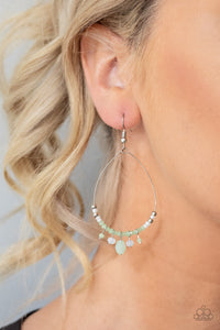 Exquisitely Ethereal - Green Earrings - Paparazzi Accessories