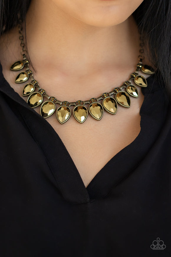 FEARLESS is More - Brass Necklace - Paparazzi Accessories