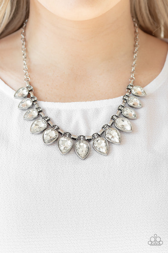 FEARLESS is More - White Necklace - Paparazzi Accessories
