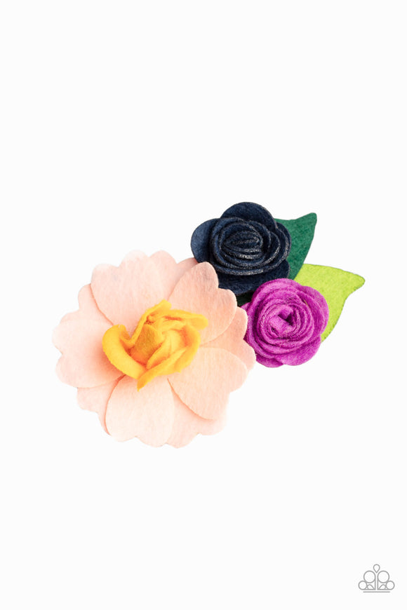 Flower Patch Posh - Multi Dark Hair Clip - Paparazzi Accessories
