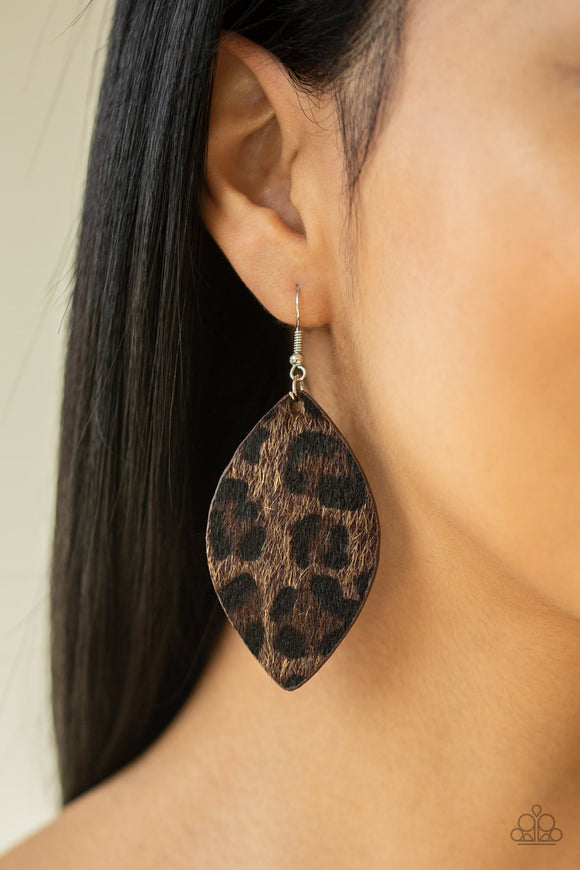 GRR-irl Power! - Brown Earrings - Paparazzi Accessories