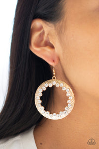 Gala Glitter - Gold Earrings - Paparazzi Accessories