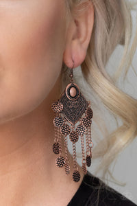 Garden Explorer - Copper Earrings - Paparazzi Accessories