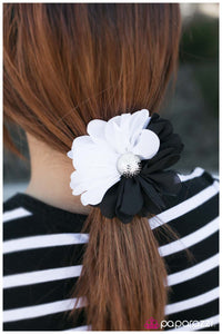 HALF A Great Day! - Black Hair Clip - Paparazzi Accessories