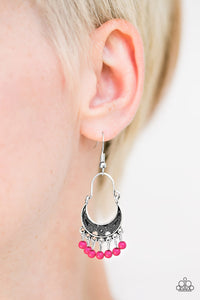 Hopelessly Houston - Pink Earrings - Paparazzi Accessories