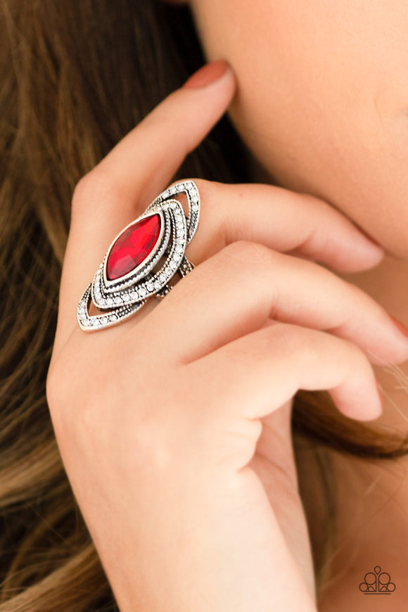 Hot Off The EMPRESS - Red Ring - Paparazzi Accessories