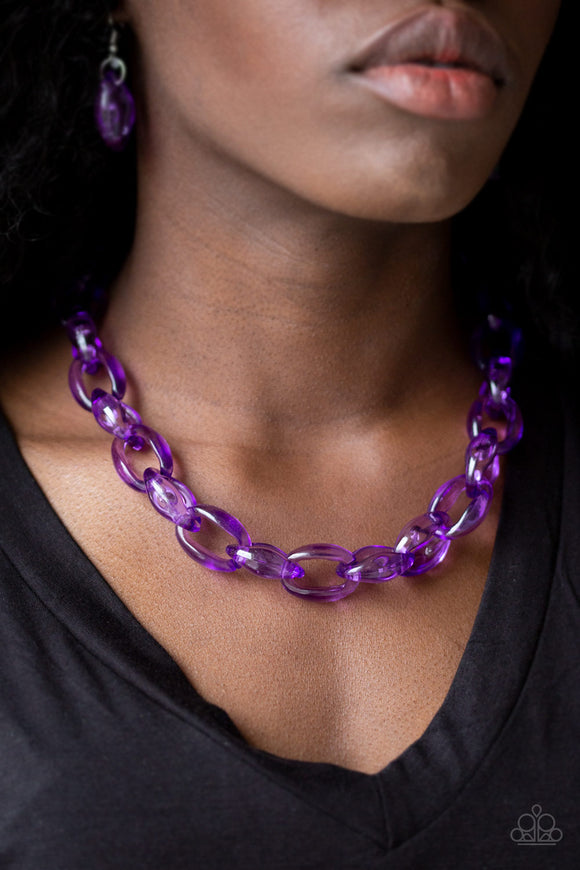 Ice Queen - Purple Necklace - Paparazzi Accessories